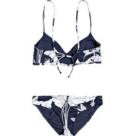 Roxy Printed Beach Classics ATH Bas de bikini Femme, mood indigo flying flowers s